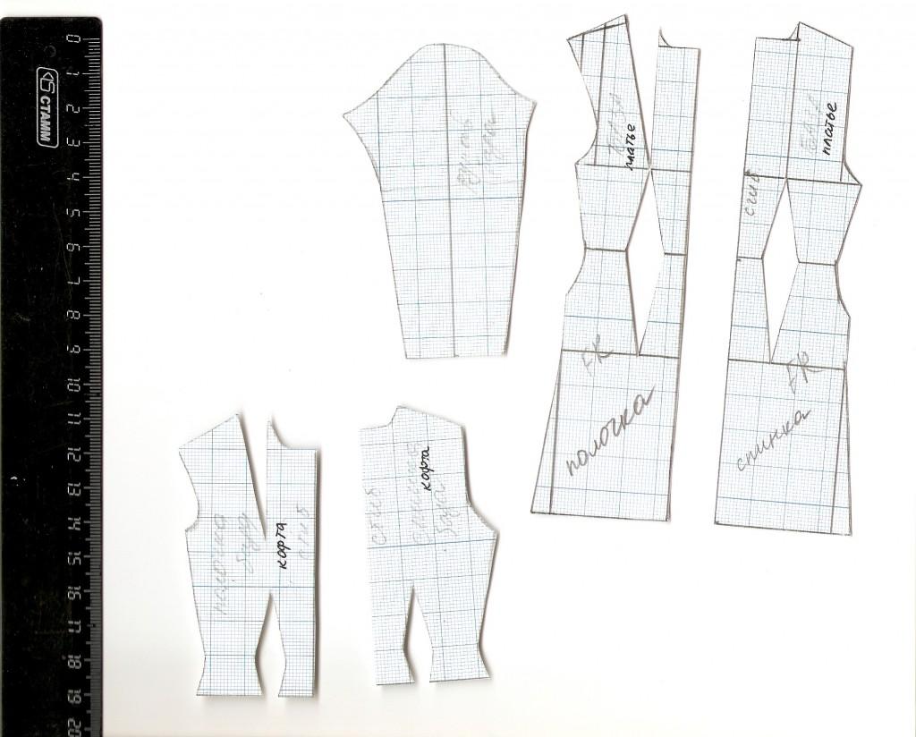 базовая выкройка одежды для куклы ФР