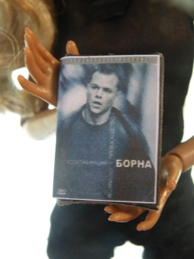 Кукольная миниатюра. dvd-диск для кукол