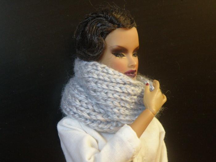 шарф на куклу